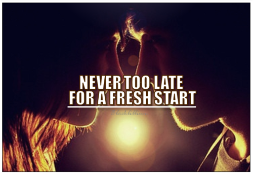 Quotes wallpaper probably containing a fire entitled New Start