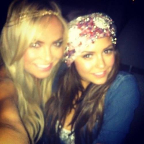 Nina at Selena Gomez's Birthday Party