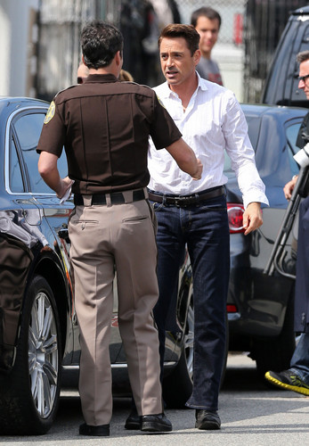 On set, July 22, 2013.