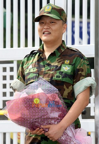 Park Jae Sang when he finished his military service