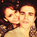 Paul's birthday party - paul-wesley-and-nina-dobrev photo
