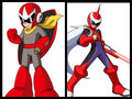 Proto Man and Protoman EXE - megaman fan art