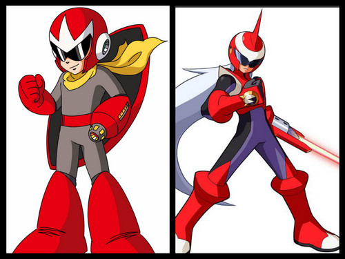 Megaman দেওয়ালপত্র probably with জীবন্ত titled Proto Man and Protoman EXE