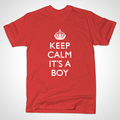 ROYAL BABY T-SHIRT (in auspicious red) - prince-william-and-kate-middleton photo