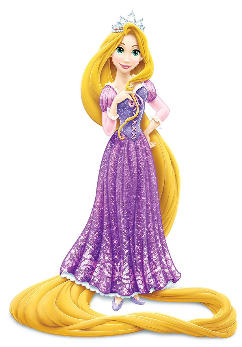 Rapunzel wearing crown