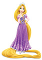 Rapunzel wearing crown