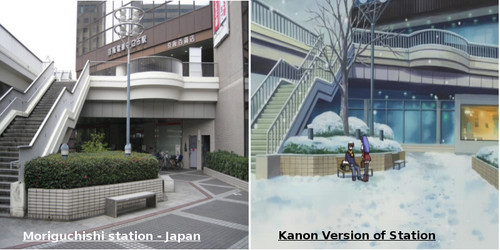 Real Place & Kanon Anime art