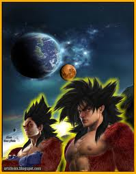 Dragon Ball Z wallpaper with Anime titled Real life Vegeta and Goku Super Saiyan 4