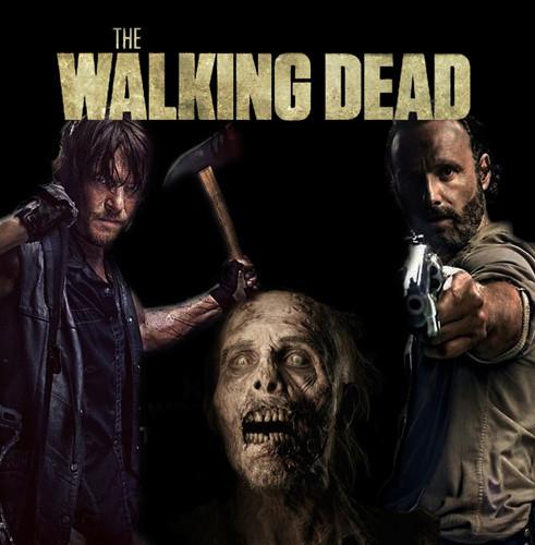 Rick, Daryl, Walker