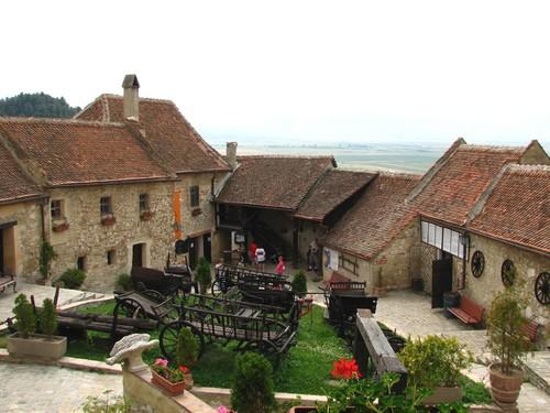 Rasnov medieval citadel Brasov Romania