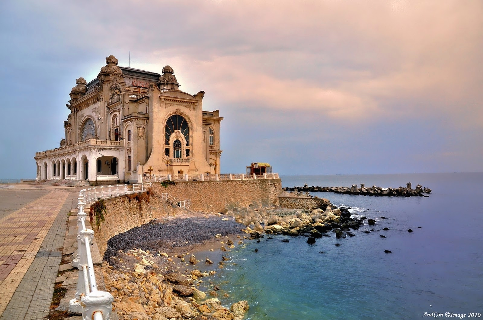 Constanta cazino on Black Sea coastline beaches Romania