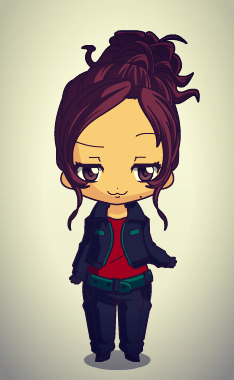 Rose Hathaway in cartoon form
