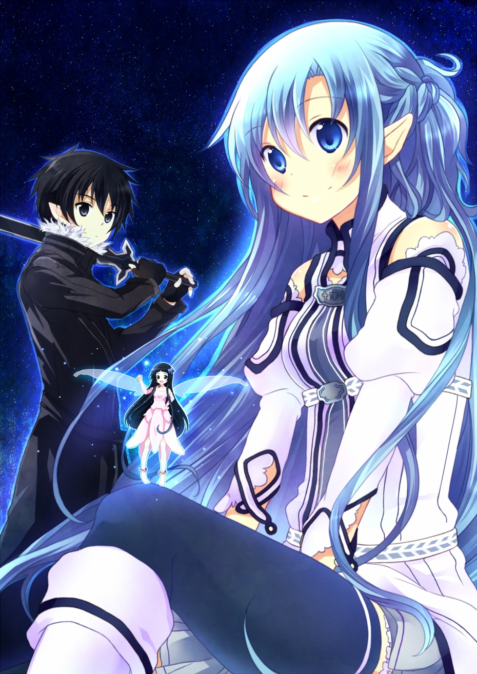 sao wallpapers asuna blue hair - photo #12