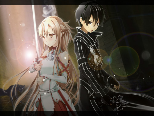 sword art online fondo de pantalla possibly containing a portrait called SAO