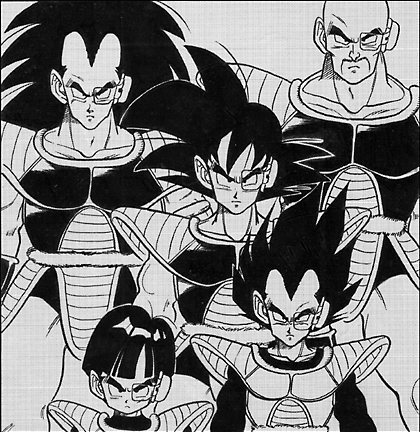 Saiyan Team with Bad 고쿠 and Bad Gohan