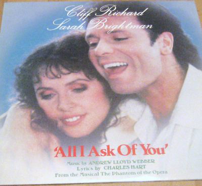 Sarah Brightman & Cliff Richard All I Ask Of toi LP Cover