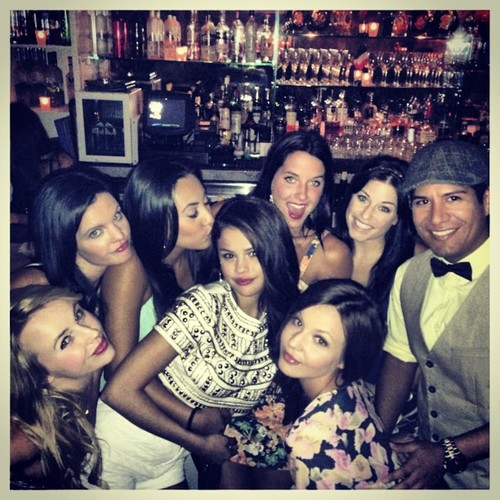 Selena celebrating her 21st birthday