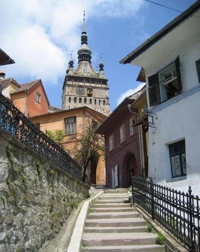 Sighisoara clock tower Romania most beautiful cities