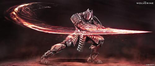 Silver Samurai Concept Art