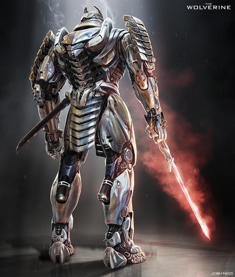 The wolverine imgenes silver samurai concept art hd fondo de the wolverine fondo de pantalla possibly with a breastplate and an armor plate titled silver samurai voltagebd Images
