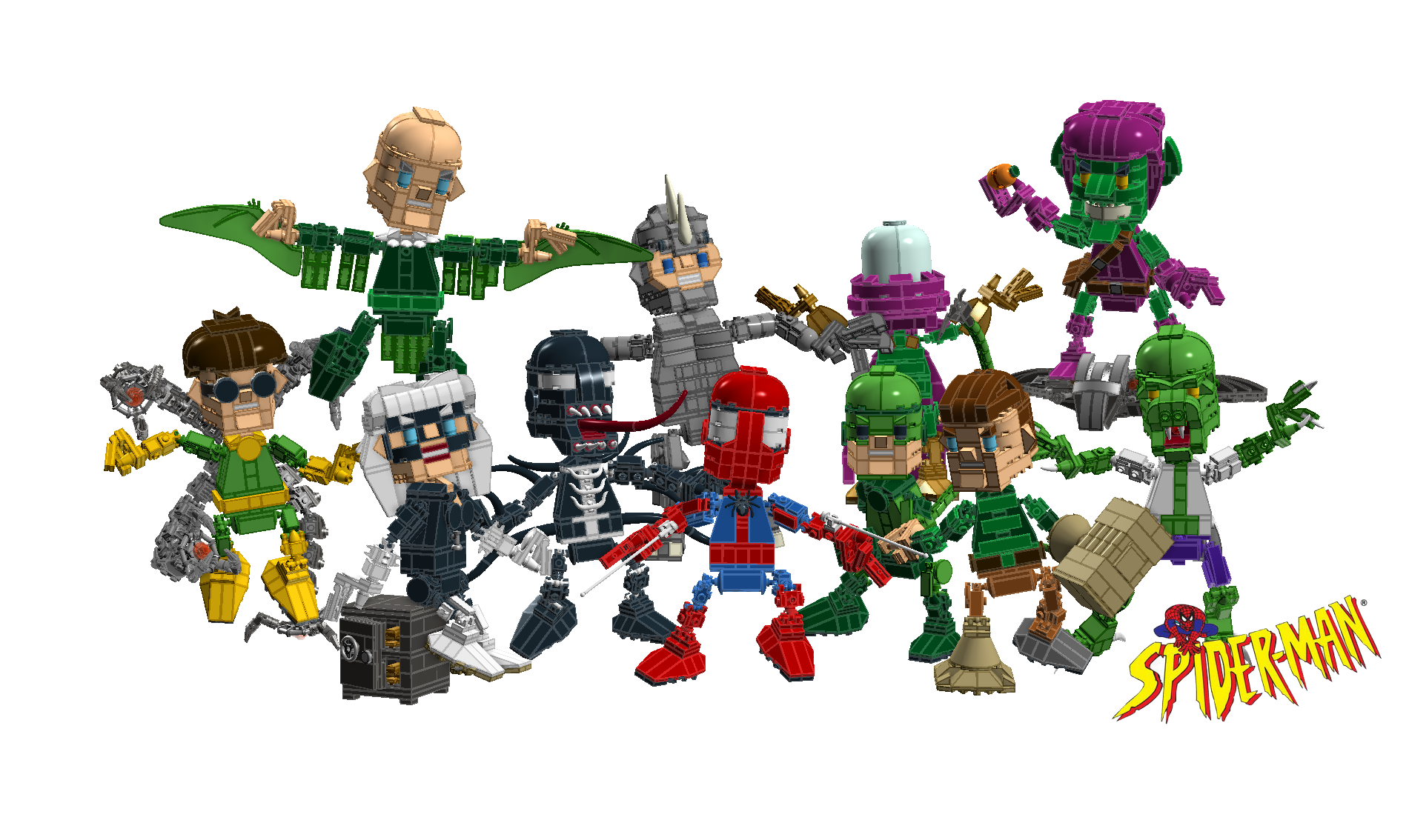 Marvel Comics Spiderman - Lego Cuusoo ProjectLego Marvel Spider Man