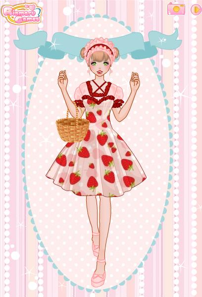 Wallpaper Dress Up Your Walls : RinmaruGames images Strawberry dress wallpaper and background photos ...
