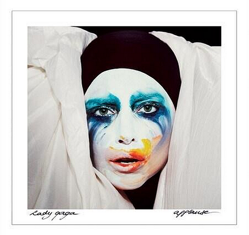 "The official single cover for ""Applause""!"