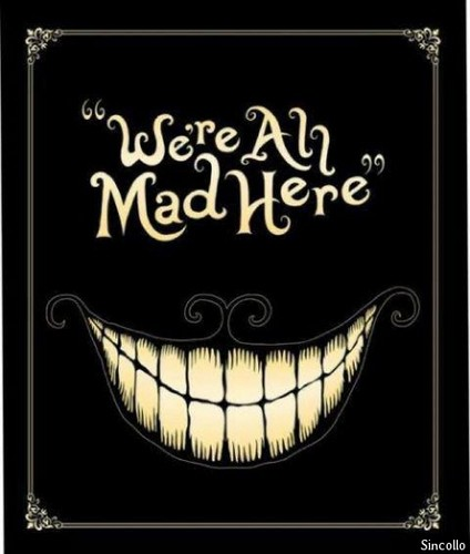 Alice in Wonderland (2010) wallpaper possibly with a sign and a fleur de lis called Tim Burton