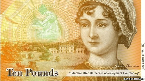 UK New £10 Note (Face of Jane Austen)