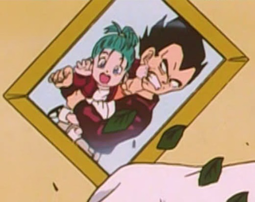 Vegeta and Bra's Picture (DBGT Ep. Screenshot)