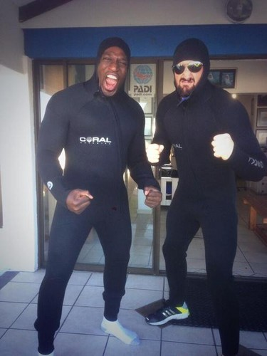 Wade Barrett and Titus O'Neil