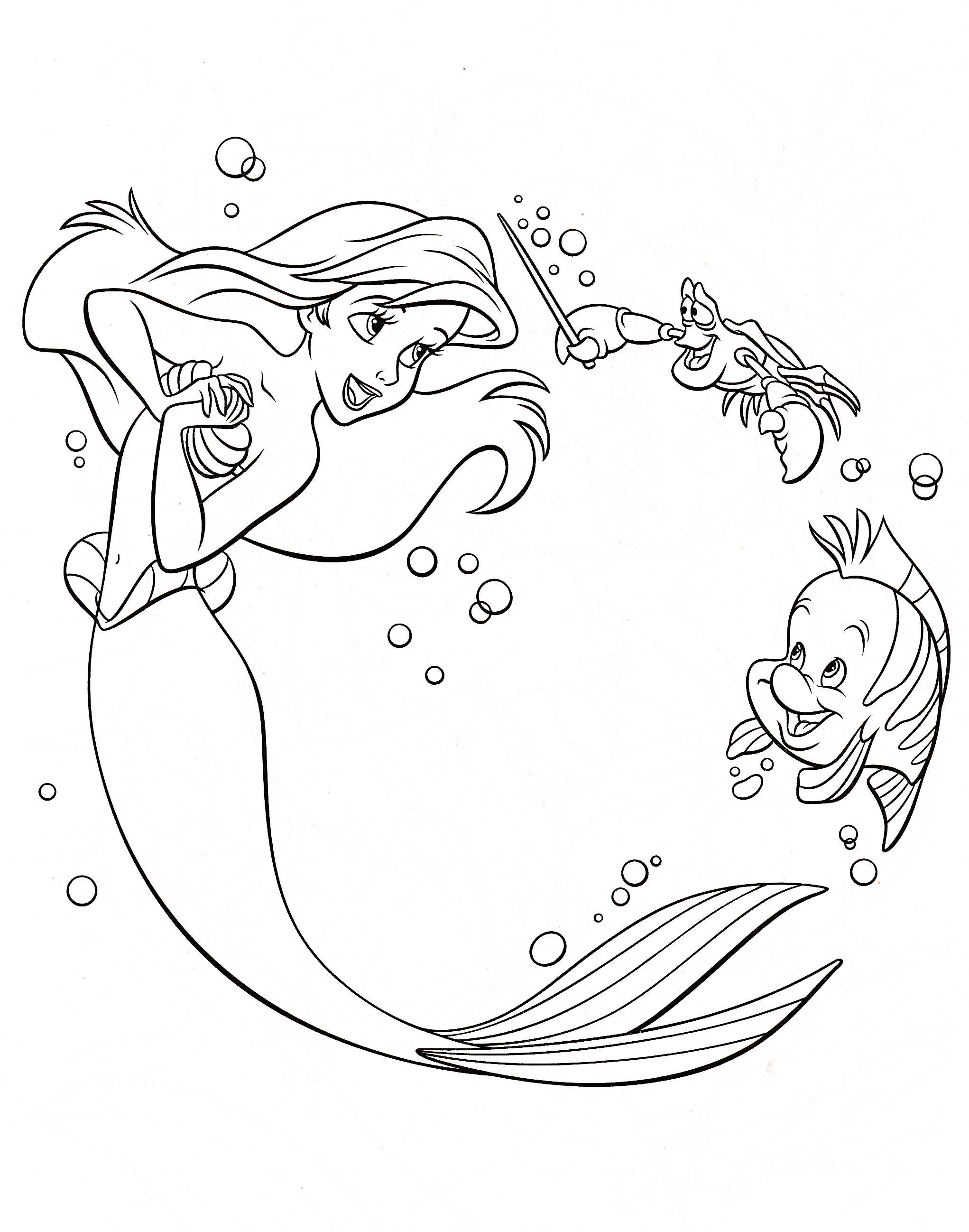 Princess ariel printable coloring pages - a-k-b.info