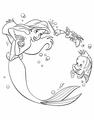 Walt Disney Coloring Pages - Princess Ariel, Sebastian & Flounder