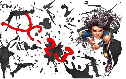 X-23 / Laura Kinney Blood Splatter দেওয়ালপত্র