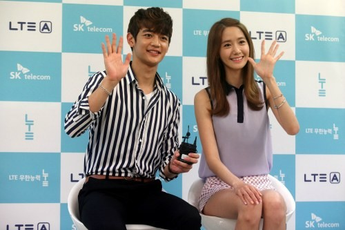 YoonA and Minho for SK Telecom's 'Note Attack' event