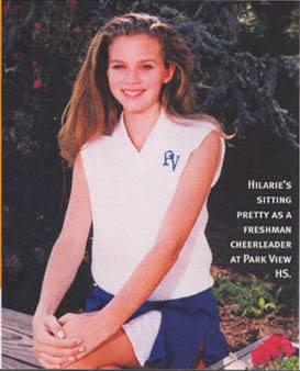 Hilarie Burton young