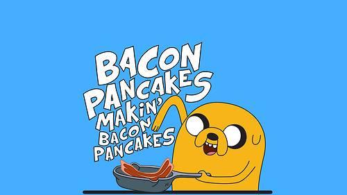 বেকন pancakes, yeaah