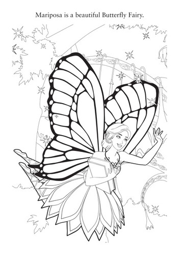 বার্বি mariposa the fairy princess