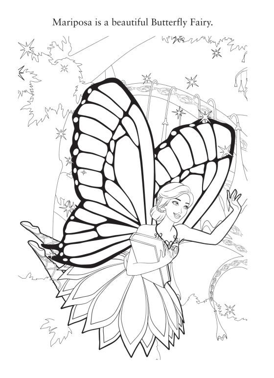 Barbie Princess Fairy Coloring Pages The