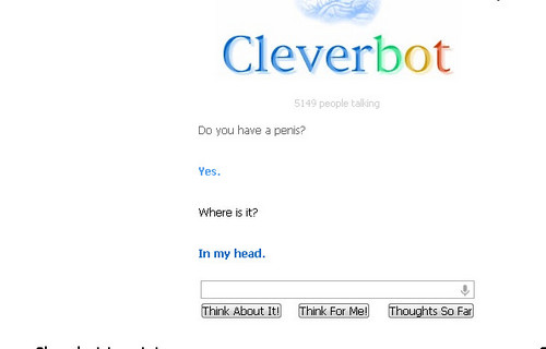 cleverbot has a mixed up body
