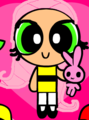 fluttershy as a powerpuff girl