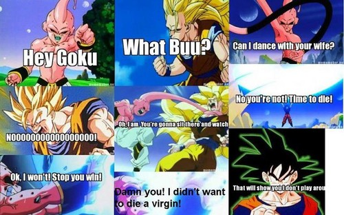Goku kills buu in akward way