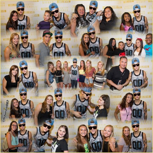 justin bieber Meet & Greet Newark (30july-2013)