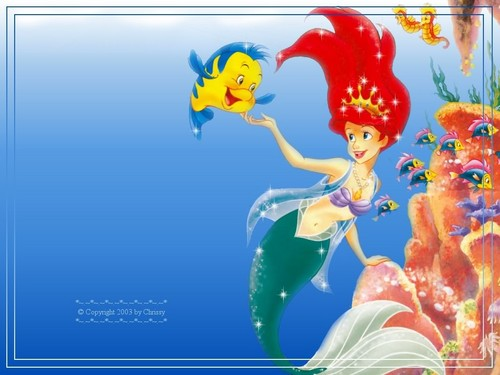 Walt Disney achtergronden - The Little Mermaid