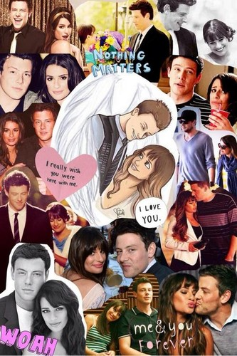 glee wallpaper titled lea and cory