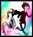 marceline and marshall lee - adventure-time-with-fiona-and-cake fan art
