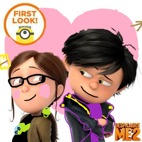 despicable me 2 club Обои called margo and antonio