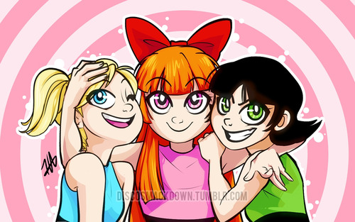 Powerpuff Girls wallpaper with anime entitled ppg