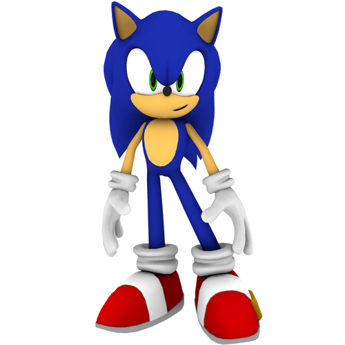 sonic looks at 你