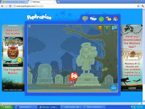 weeping 天使 in poptropica